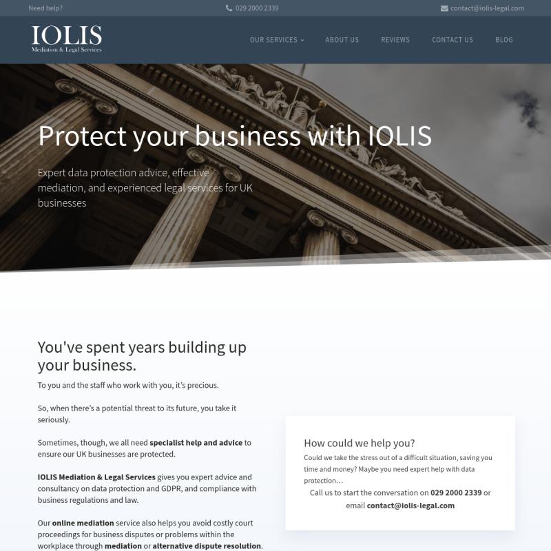 IOLIS Website Screenshot