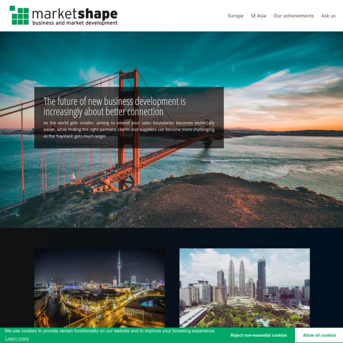 Market Shape Website Screenshot